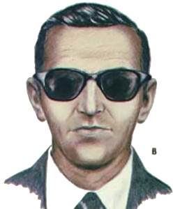 D.B. Cooper jumped from a moving plane and was never seen again.